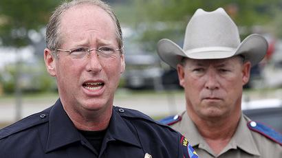 Sgt. Patrick Swanton (L). (Reuters/Mike Stone)