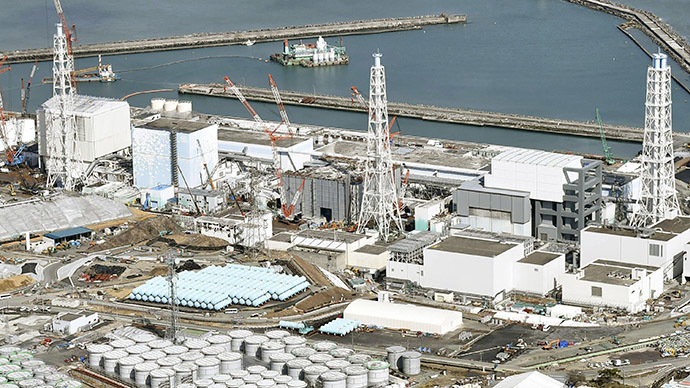 Tanks of radiation-contaminated water are seen at Tokyo Electric Power Co. (TEPCO)'s tsunami-crippled Fukushima Daiichi nuclear power plant in Fukushima prefecture, in this photo taken by Kyodo. (Reuters/Kyodo)
