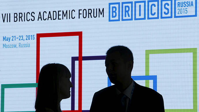 Participants speak during the 7th BRICS Academic Forum in Moscow, Russia, May 22, 2015 (Reuters / Sergei Karpukhin)