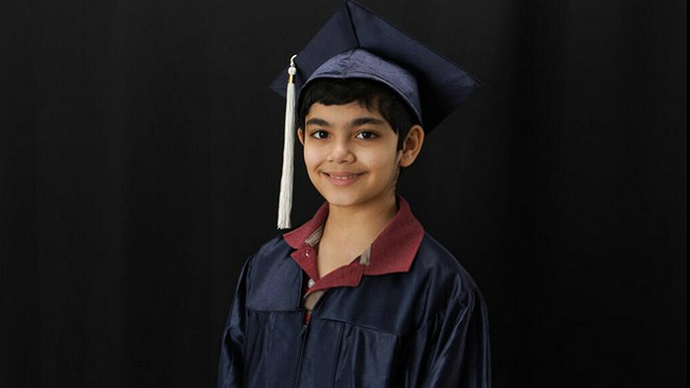 Boy, 11, graduates from California college with 3 degrees