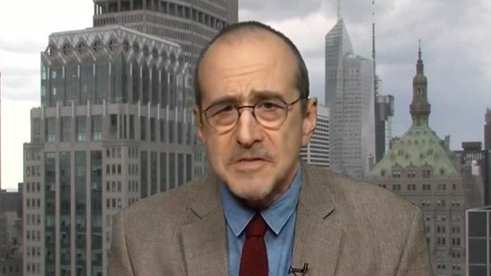 Mark Crispin Miller. (Still from RT video)
