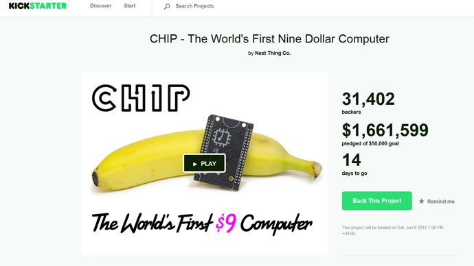 Screenshot from www.kickstarter.com