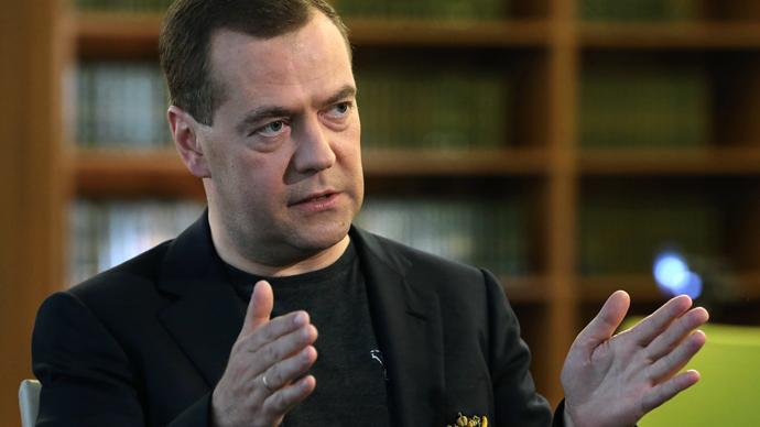 Russian Prime Minister Dmitry Medvedev (RIA Novosti /  Ekaterina Shtukina)