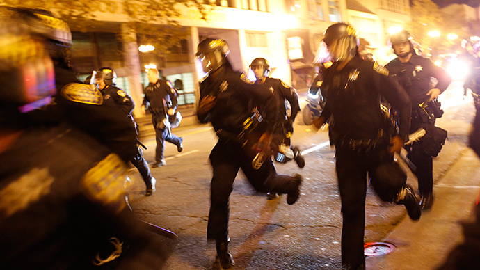 Multiple arrests as dozens rally in Oakland against police brutality