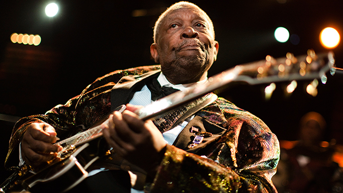 U.S. blues legend B.B. King (Reuters /  Valentin Flauraud)