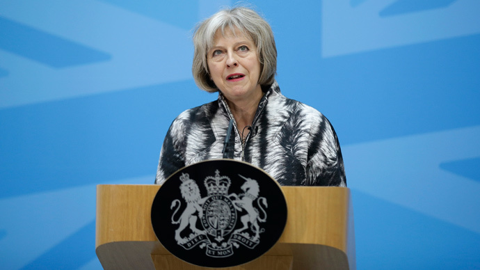 Britain's Home Secretary Theresa May (Reuters / Matt Dunham / Pool)