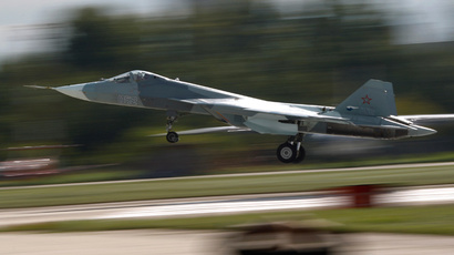Russian Sukhoi T-50 PAK-FA jet fighter  (Reuters / Maxim Shemetov)