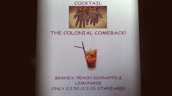 ​'Racist' Oxford Union cocktail advert sparks race row