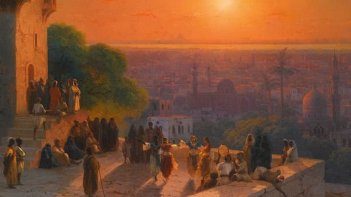 Ivan Aivazovsky, Evening in Cairo, 1870