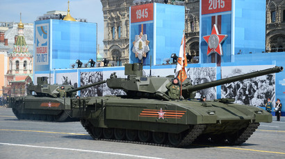 A tank with the Armata Universal Combat Platform at the military parade to mark the 70th anniversary of Victory in the 1941-1945 Great Patriotic War.(RIA Novosti / Iliya Pitalev)