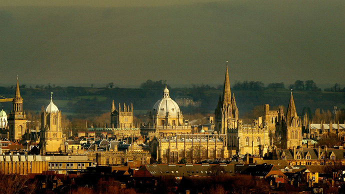 The rooftops of the university city of Oxford are seen from the south west. (Reuters/Peter Macdiarmid)