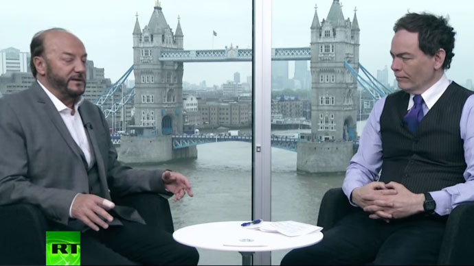 George Galloway and Max Keiser (Stil from RT video)