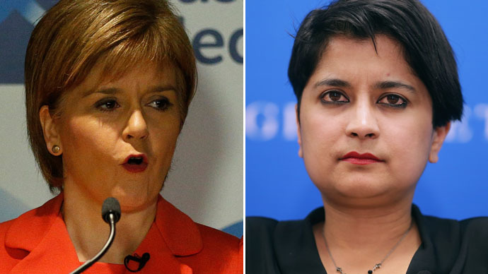 Scotland's First Minister Nicola Sturgeon (L) and Liberty Director Shami Chakrabarti (Reuters/AFP Photo)