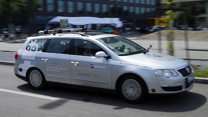 AutoNOMOS self-driving car (Reuters/Ruben Sprich)