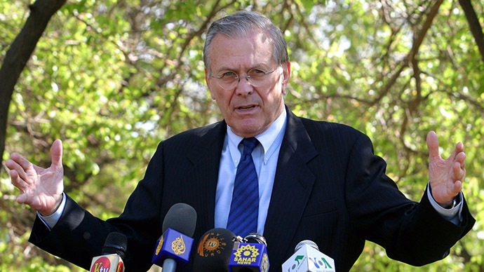 Rumsfeld admits Bush was wrong pushing democracy on Iraq