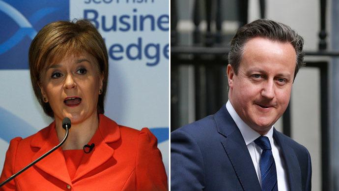 Scotland's First Minister Nicola Sturgeon (L) and Britain's Prime Minister David Cameron (Reuters)