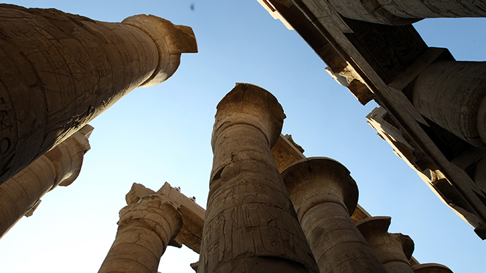 Columns are seen in Karnak Temple in Luxor, southern Egypt (Reuters / Goran Tomasevic)