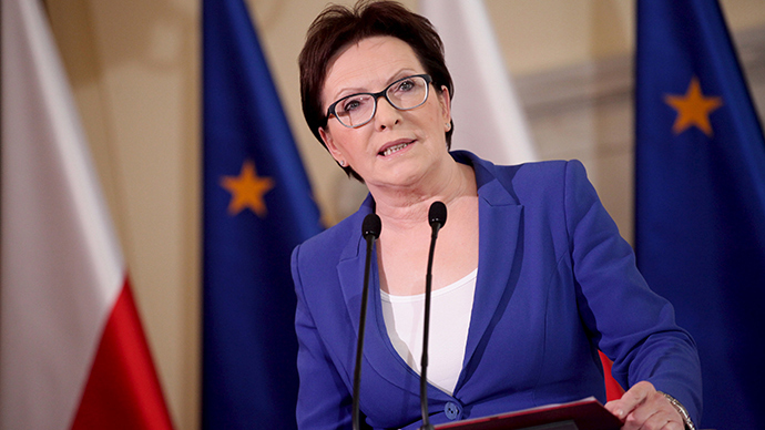 Poland's Prime Minister Ewa Kopacz speaks during a news conference at the Prime Minister Chancellery in Warsaw, Poland June 10, 2015 (Reuters / Agencja Gazeta)