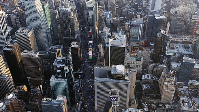 Buildings surround Times Square in New York. (Reuters/Lucas Jackson)
