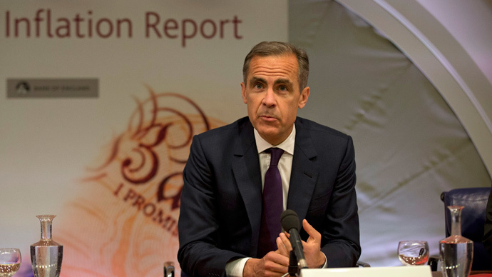 Bank of England (BoE) Governor, Mark Carney. (Reuters / Matt Dunham / pool)