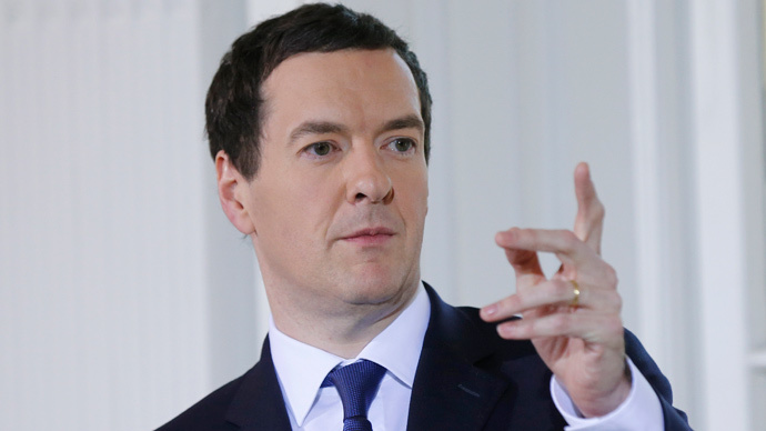 Britain's Chancellor of the Exchequer George Osborne  (Reuters / Suzanne Plunkett)