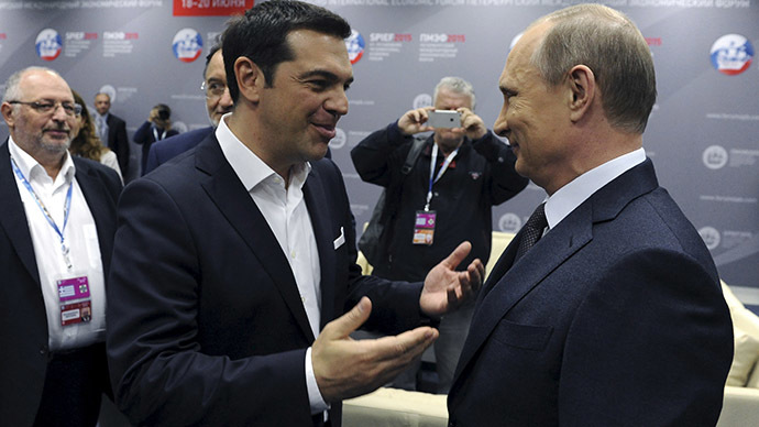 ​Putin: €2bn Russia-Greece gas deal will help Athens pay its debt