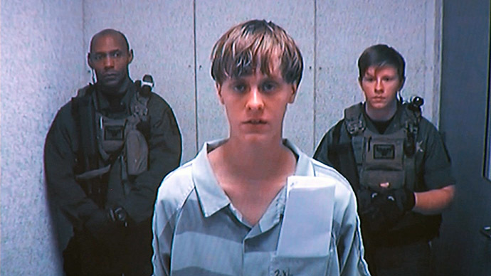 Dylann Storm Roof appears by closed-circuit television at his bond hearing in Charleston, South Carolina June 19, 2015 in a still image from video. (Reuters)