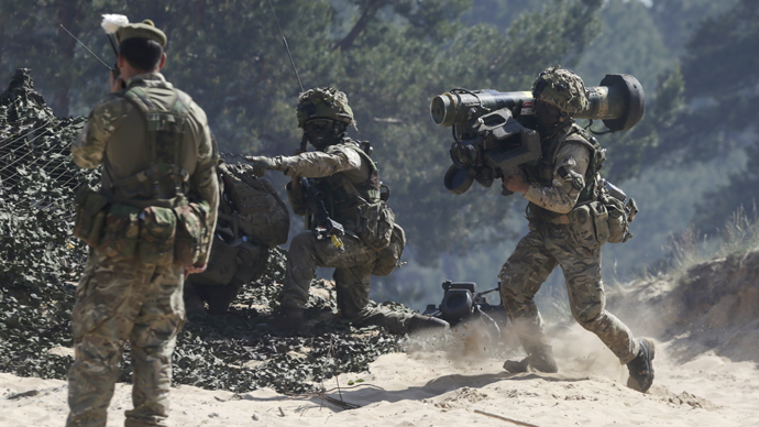 British Ghurkas attend the multinational NATO exercise Saber Strike in Adazi, Latvia, June 11, 2015. (Reuters / Ints Kalnins)