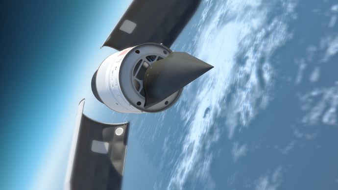 This US Defense Advanced Research Projects Agency(DARPA) artists rendering shows the Falcon Hypersonic Technology Vehicle 2 (HTV-2). (AFP Photo / Darpa)