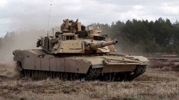 US deploying 250 military vehicles 'incl. Abrams tanks' near Russian border