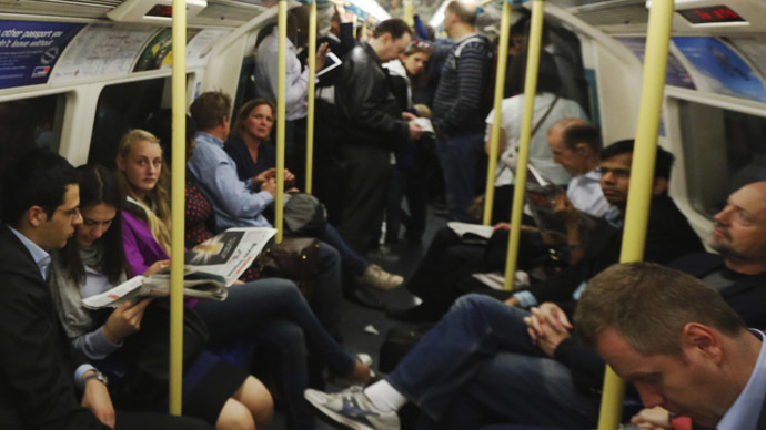Passengers get sniffy at City boy snorting coke on London tube