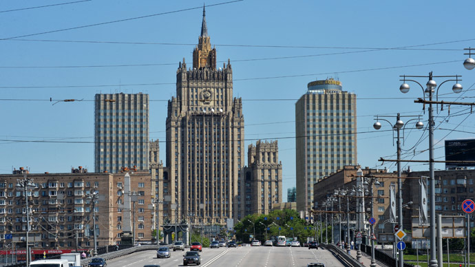 View of the Russian Foreign Ministry building in Moscow. (RIA Novosti / Viktor Tolochko)