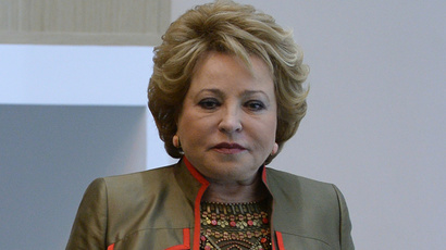 Chairperson of the Federation Coucil Valentina Matviyenko (RIA Novosti / Alexey Filippov)