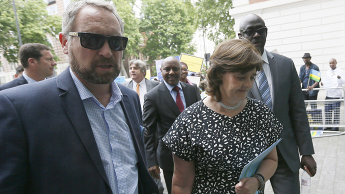 Cherie Blair, wife of former British Prime Minister Tony Blair arrives at Westminster Magistrates Court to attend a hearing for Rwanda's intelligence chief Karenzi Karake in London, Britain June 25, 2015. (Reuters / Stefan Wermuth)