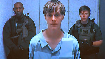 Dylann Storm Roof appears by closed-circuit television at his bond hearing in Charleston, South Carolina June 19, 2015. (Reuters)