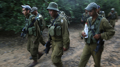 Bedouin Arab Israeli Defense Force soldiers take part in a tracking drill near Tze'elim in southern Israel. (Reuters / Finbarr O'Reilly)