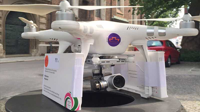 ​'Abortion drone' delivers pregnancy-terminating pills to Polish women (VIDEO)
