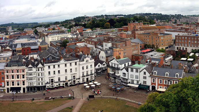A panorama of the English city of Exeter (image from wikipedia.org)