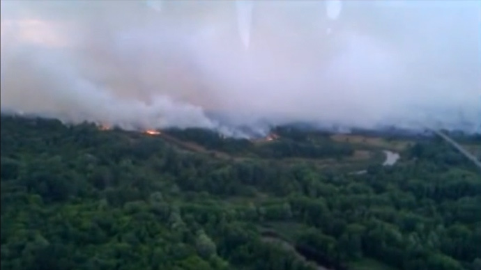 New wildfire sends smoke billowing over Chernobyl exclusion zone