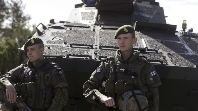 Soldiers at the multinational NATO exercise Saber Strike in Adazi, Latvia (Reuters / Ints Kalnins)