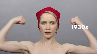 100 yrs of Russian beauty in 1 min: New video shows century of women's looks
