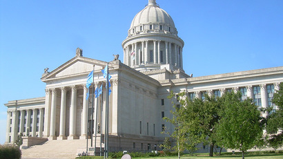 Oklahoma State Capitol in Oklahoma City. (Image from Wikipedia)