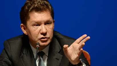Alexey Miller, Chairman of the Gazprom Management Committee (Reuters /  Mikhail Voskresenskiy)