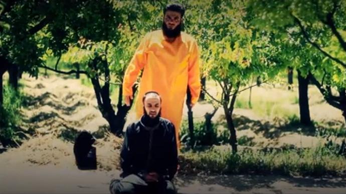 Screenshot from a YouTube video uploaded by القصاص من الخوارج