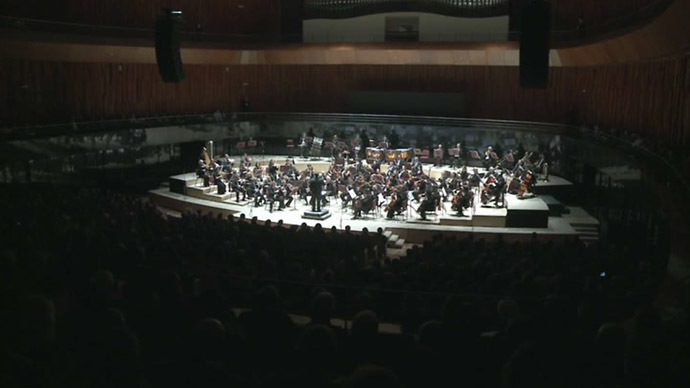 Argentina's national philharmonic orchestra (Still from RT video)