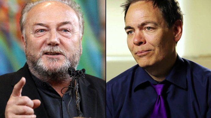 George Galloway (L) and Max Keiser
