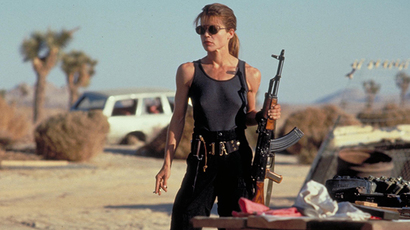 Still of Linda Hamilton in 'Terminator 2' movie