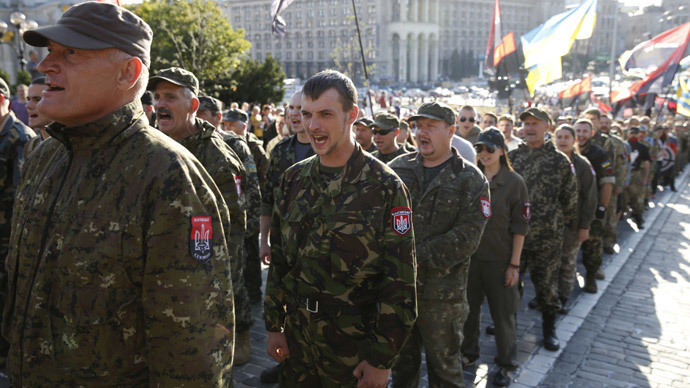 Far-right stage huge march in Kiev, call for military action in E. Ukraine