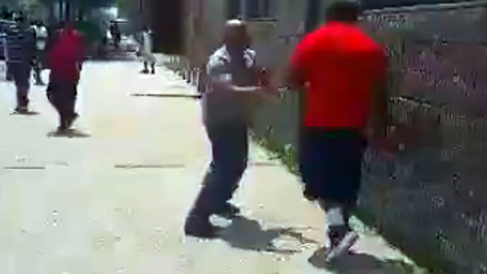 NYPD cop's fistfight with suspect caught on video