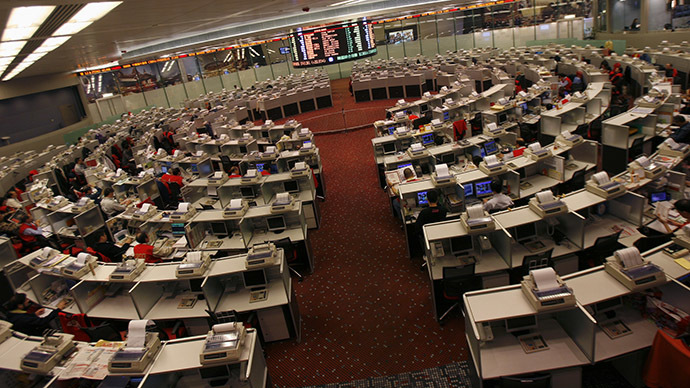 A general view of the Hong Kong Stock Exchange trading hall. (Reuters / Bobby Yip)